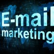 Marketing concept: pixelated words Email marketing on digital sc — Stock Photo #13891209