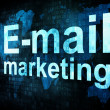 Marketing concept: pixelated words Email marketing on digital sc - Foto de Stock