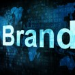 Marketing concept: pixelated words Brand on digital screen - Stock Photo