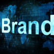 Marketing concept: pixelated words Brand on digital screen — Stock Photo