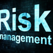 Management concept: pixelated words Risk management on digital s — Foto Stock