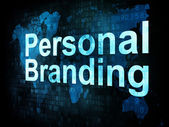 Marketing concept: pixelated words Personal Branding on digital — Stockfoto