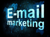 Concetto di vendita: pixelated parole Email marketing su digitale sc — Foto Stock