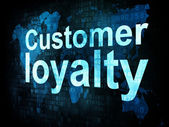 Marketing concept: pixelated words Customer loyalty on digital s — Stock Photo