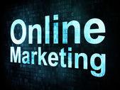 Marketing concept: pixelated words Online Marketing on digital s — Stock Photo