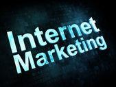 Marketing concept: pixelated words Internet Marketing on digital — Zdjęcie stockowe