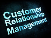 Marketing concept: pixelated words Customer Relationship Managem — Stock Photo