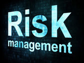 Management concept: pixelated words Risk management on digital s — Stock Photo