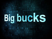 Money concept: pixelated words Big bucks on digital screen — Stock Photo
