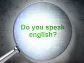 лупа со словами ты говоришь по-английски? — Стоковое фото