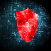 Security concept: shield on digital background — Foto de Stock