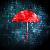 Security concept: Umbrella on digital background — Foto Stock