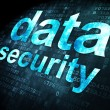 Постер, плакат: Security concept: data security on digital background