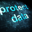 Stock Photo: Security concept: protect daton digital background
