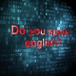 Stock Photo: Education concept: Do you speak english? on digital background