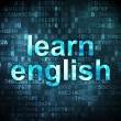 Stock Photo: Education concept: learn english on digital background