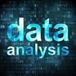 Stock Photo: Information concept: datanalysis on digital background