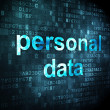 Royalty-Free Stock Photo: Information concept: personal data on digital background