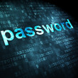 Stock Photo: Information concept: password on digital background