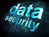 Security concept: data security on digital background — Stock Photo
