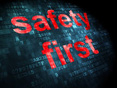 Security concept: safety first on digital background — Stock Photo