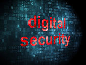 Security concept: digital security on digital background — Stock Photo