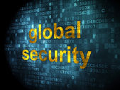 Security concept: global security on digital background — Stock Photo