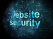 Security concept: website security on digital background — Stock Photo