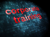 Education concept: corporate training on digital background — Stock Photo