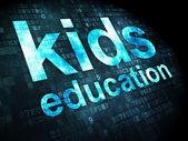 Education concept: kids education on digital background — Stock Photo