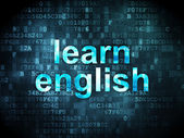 Education concept: learn english on digital background — Stock Photo