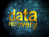 Information concept: data recovery on digital background — 图库照片