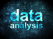 Information concept: data analysis on digital background — Stock Photo