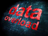 Information concept: data overload on digital background — Foto Stock