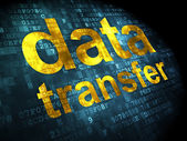 Information concept: data transfer on digital background — Stock Photo
