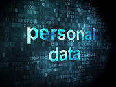 Information concept: personal data on digital background — Foto Stock