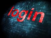 Information concept: login on digital background — Stock Photo
