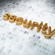 Security concept: golden security on digital background — Stock Photo