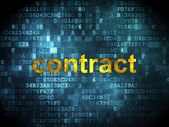 Business concept: Contract on digital background — Foto Stock