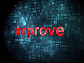 Business concept: improve on digital background — Stock Photo