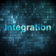 Business concept: integration on digital background — Stock Photo #17722389