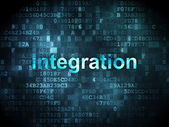 Business concept: integration on digital background — Stock Photo