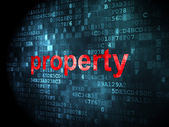 Business concept: Property on digital background — Stock Photo