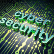 Security concept: circuit board with word cyber security — Stock Photo #17843859
