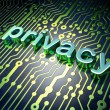 Privacy concept: circuit board with word Privacy - Stockfoto
