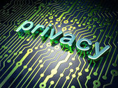 Privacy concept: circuit board with word Privacy — Foto Stock