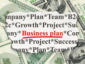 Finance concept: Business Plan on Money — Stock Photo