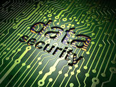 Safety concept: circuit board with word Data Security — Photo
