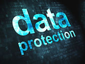 Safety concept: Data Protection on digital background — Stock Photo