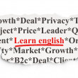 Stock Photo: Education concept: Learn English on